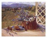 Lavender Basket Art Print