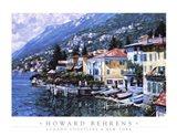 Lugano Coastline Art Print