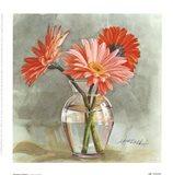 Tangerine Gerbera Art Print