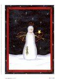 Snow Happy Guy Art Print