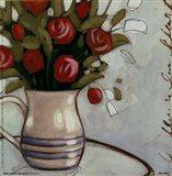 White Pitcher Bouquet Art Print