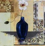 Blue Vase I Art Print
