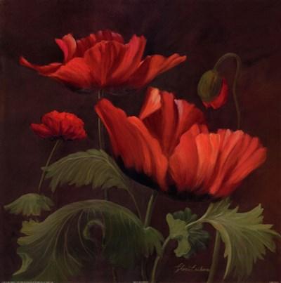 Vibrant Red Poppies II Art Print by Eriksen