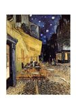 The Cafe Terrace on the Place du Forum, Arles, at Night, c.1888 Art Print