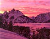 Teton Sunset Art Print