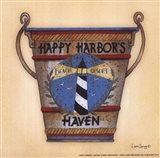 Happy Harbor Art Print