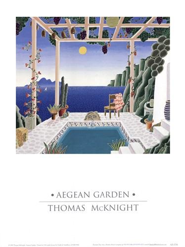 Aegean Garden Art Print by McKnight