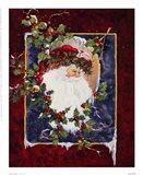 Santa's Portrait Art Print