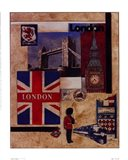 London Collage Art Print