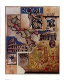 Rome Collage Art Print