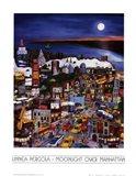 Moonlight Over Manhattan Art Print