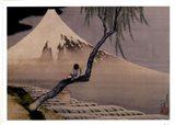 Boy On Mt. Fuji Art Print