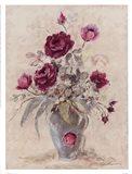Crimson Roses l Art Print