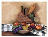Basket And Bowl Art Print