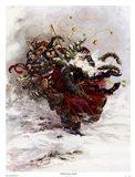 Windswept Santa Art Print