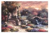 Sunset Garden Retreat Art Print