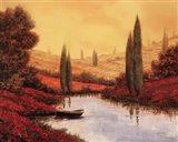 Silenzio Tra I Cipressi Art Print