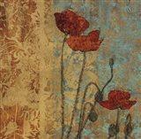 Poppy Pattern I Art Print