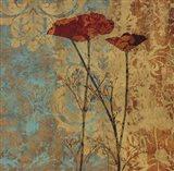 Poppy Pattern II Art Print
