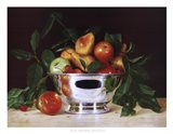 Fruit In a Bowl Of Silver Art Print