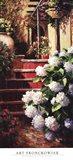 Hydrangea Steps Right Art Print