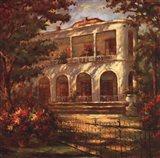 Portico at Sunset Art Print