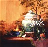 Oriental Orange Art Print