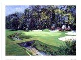 The 13th At Augusta-Azalea Art Print