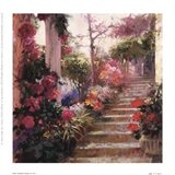 Rose Garden Steps Art Print