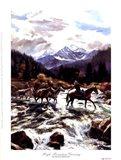 High Mountain Crossing Art Print