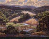 Golden Foothills I Art Print