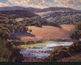 Golden Foothills II Art Print