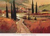 September In Tuscany I Art Print