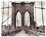 Brooklyn Bridge - sepia Art Print