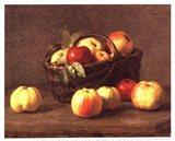 Pommes Dans un Panier Art Print