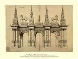 Facade avec Elephants, (The Vatican Collection) Art Print