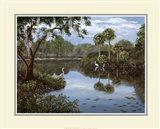 Three Cranes Swamp Art Print
