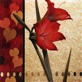 Amaryllis Red Damasque Art Print