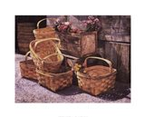 Stacked Baskets Art Print