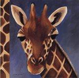 Exotic Giraffe - Mini Art Print