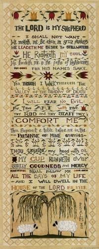 The Lord is my Shepherd Art Print by Shamp