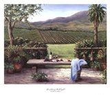 Overlooking the Vineyard Art Print