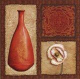 Oriental Collage II Art Print