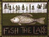 Fish The Lake Art Print