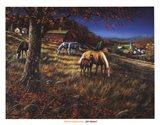 Hillside Gathering Art Print