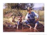 Fishin' with Grandpa Art Print