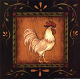 Square Rooster Right Art Print