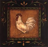 Square Rooster Left Art Print