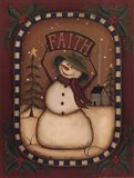 Faith Snowman Art Print