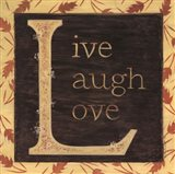 Live Laugh Love - Border Art Print